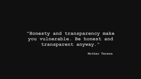 Transparency Quote
